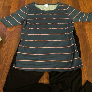 Adorable large Blue and Pink stripe in this GiGi